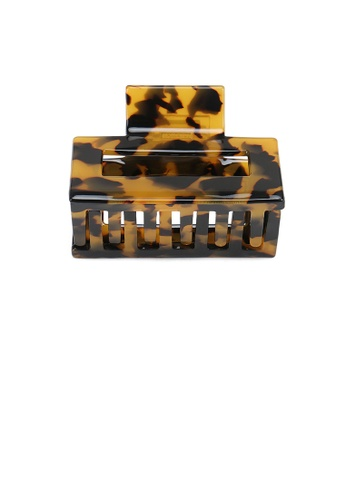 Glamorousky brown Fashion Simple Dark Leopard Geometric Hair Claw A790EACE512E2FGS_1