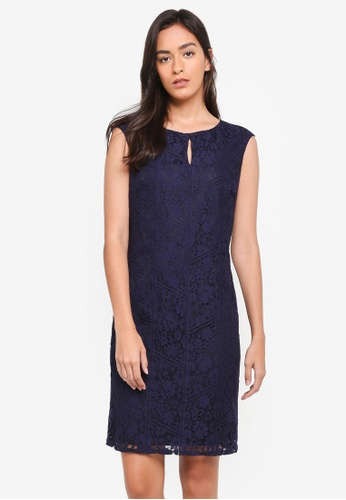 Wallis navy Navy Lace Shift Dress AC9B3AADF94F90GS_1