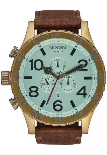 Nixon brown and green Nixon - 51-30 Chrono- Brass/Green Crystal/Brown NI855AC14SVTSG_1