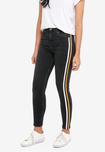 TOPSHOP black Moto Wash Black Jamie Jeans 8C858AABA1F823GS_1