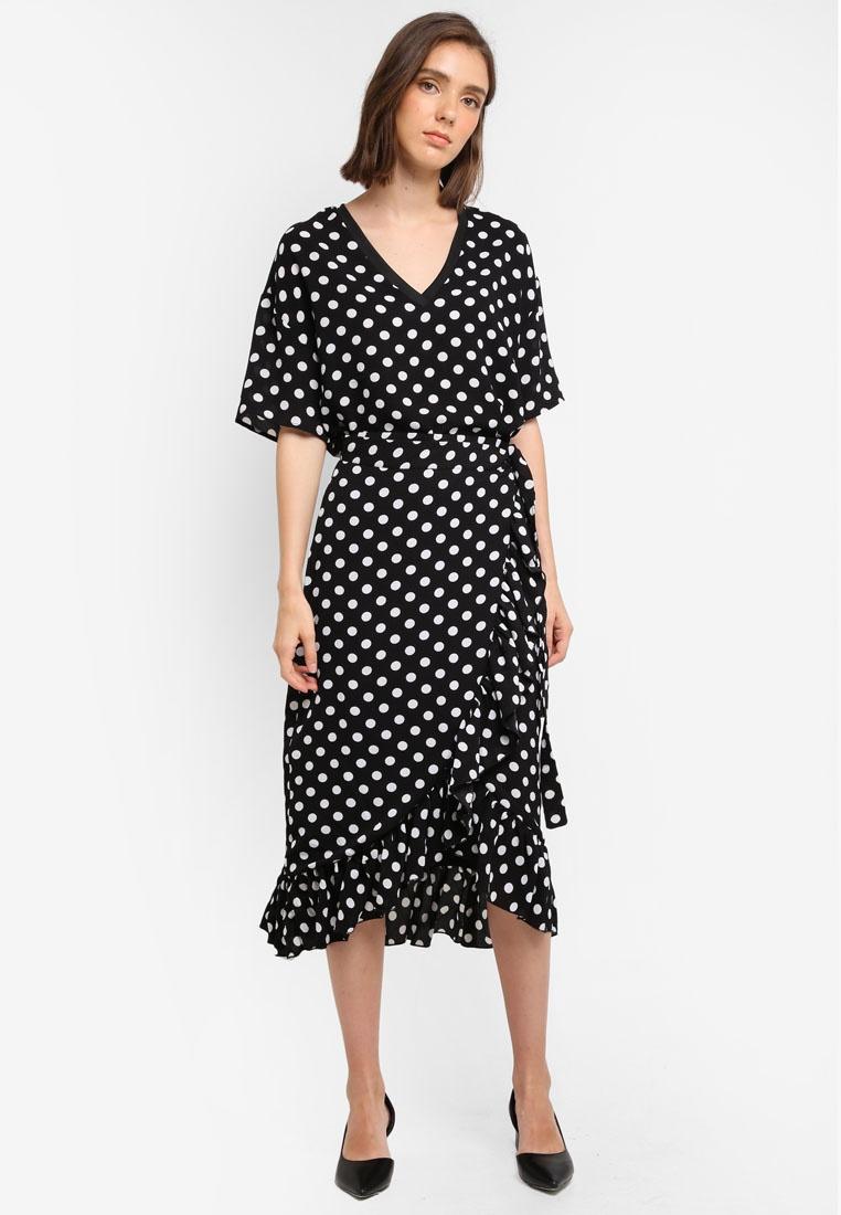 Polka S Black White Skirt Wrap Dots W Y A wTEzBa