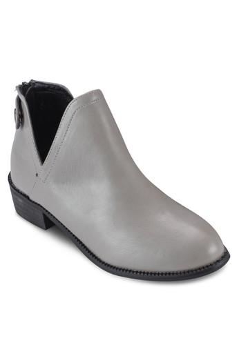 esprit手錶專櫃側鏤空仿皮踝靴, 女鞋, 靴子