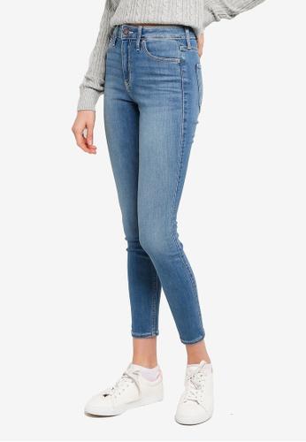 Hollister blue High Rise Super Skinny Jeans C7D36AA6089D0CGS_1