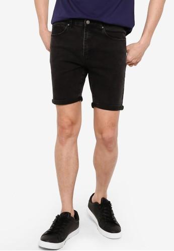 ZALORA BASICS grey Rolled Cuffed Denim Shorts CDC24AA25F75D5GS_1