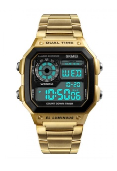 fc179daa4 Fashion by Latest Gadget gold SKMEI 1335 Men's Waterproof Square Digital  Chronograph Watch with EL Backlit