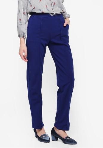 BYN blue Straight Leg Pants E97C4AAA8CA1CFGS_1