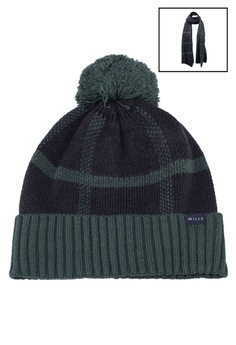 1e442869cd1 Jack Wills navy Wincanto Check Hat And Scarf Set E0775ACEF598EAGS 1