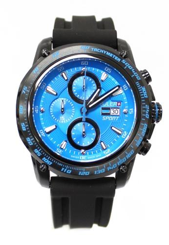 Buler black and blue Buler Sport Watch - Blue - Gents - Date- 6H BU689AC2VG1BHK_1