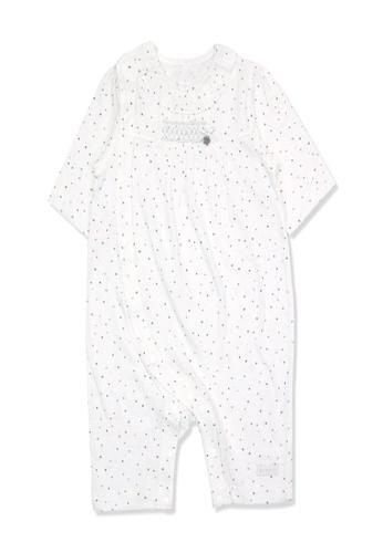 Organic mom white Organic Cotton James Dot Onesie 2EC50KA6F227C3GS_1