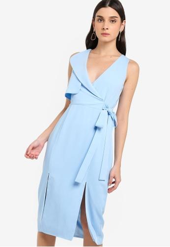 Lavish Alice blue Storm Flap Midi Dress D0E8DAAD66E0C3GS_1