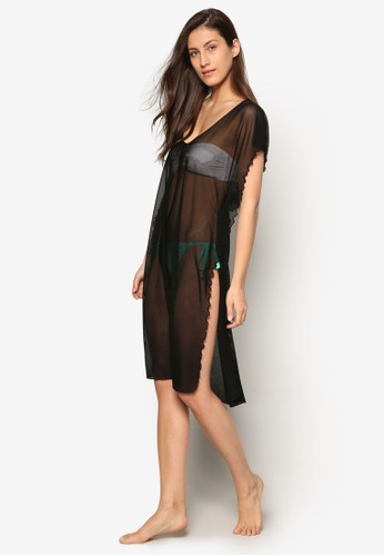 Solid Separates 薄紗側開叉寬鬆連身裙, 服飾, 運動esprit outlet 桃園