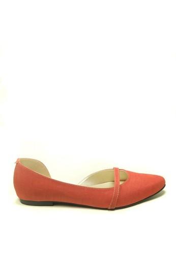 Beauty Shoes red Beauty Shoes 1141 Flat Orange 912AFSHEE83AA3GS_1