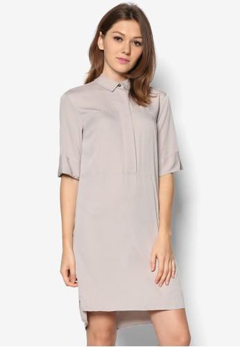 簡約襯衫式連身裙, 服飾zalora 手錶 評價, 正式洋裝