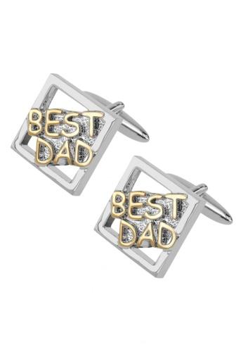 CUFF IT gold BEST DAD Cufflinks CU047AC24RXVHK_1