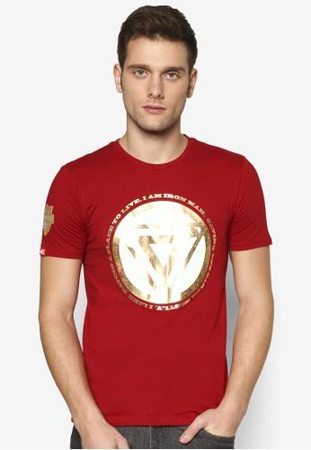 漫威鋼鐵人燙金設計TEE,esprit outlet hk 服飾, 印圖T恤