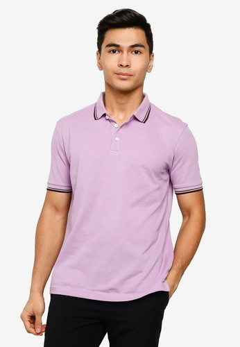 UniqTee purple Slim Fit Twin Tipped Polo Shirt 0D930AAC5262E5GS_1