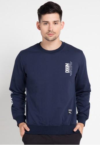 D&F navy T-Shirt Babby Terry Long Sleeve DF100AA0VY9JID_1