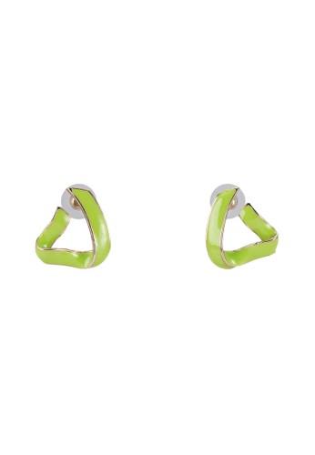 抽像三角鏤空搪瓷耳墜, 飾esprit 工作品配件, 耳釘