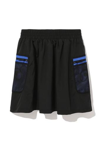 Mini cream black Mesh pocket skirt A7533AAF394657GS_1