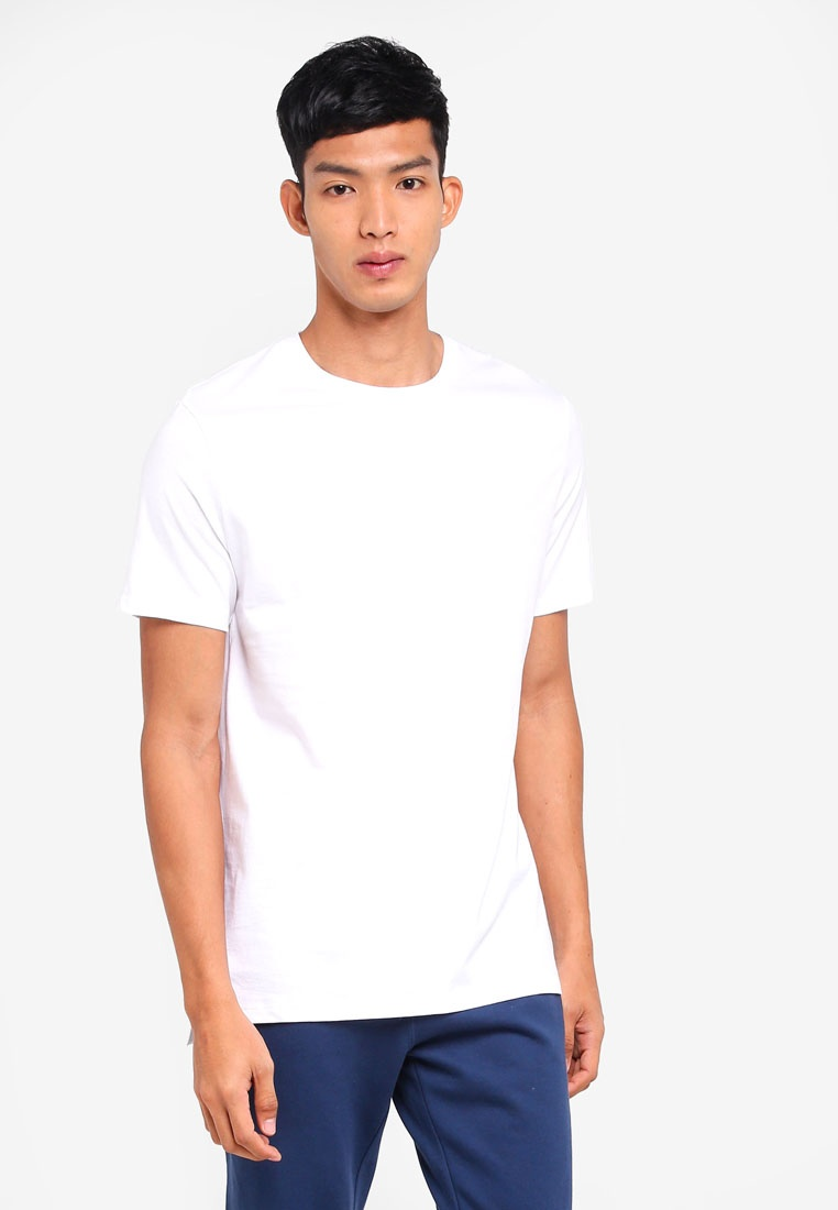White Neck Fit Shirt Crew London White Longline Burton T Menswear rpxHwr1q