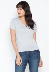 DEBENHAMS grey Red Herring - Rh V Neck T-Shirt 6B29DAA1AD543AGS_1