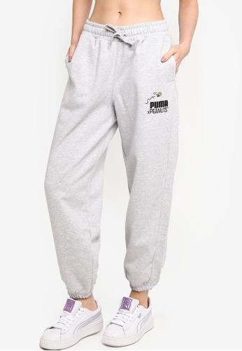 PUMA grey PUMA x PEANUTS Women's Sweatpants 176F0AA425502BGS_1
