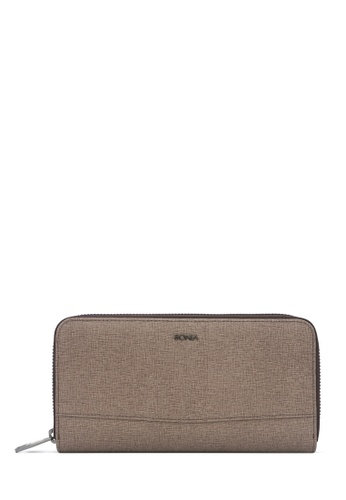 BONIA brown Taupe Betsy Zipper Wallet D18C7AC871ADCBGS_1