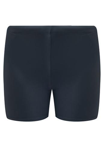 Funfit 灰色 雙色四角泳褲 BD226AA77B09DEGS_1
