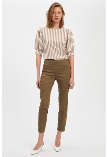 DeFacto green Woman Trousers 683B6AA4E7E648GS_1