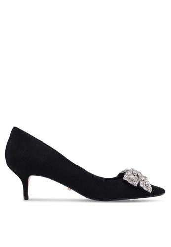 Dune London black Bowpeep Jewel Bow Kitten Heels F4E96SHFF191FCGS_1