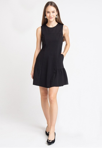 L'zzie black LZZIE GEMMA DRESS - BLACK 8AC8FAA0B82B79GS_1