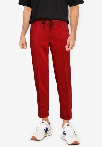 UniqTee red Ultra Soft Active Jogger Pants 9C089AA8D7A2BBGS_1