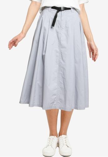 LOWRYS FARM blue Belted A-line Skirt A0726AA0AF37E1GS_1