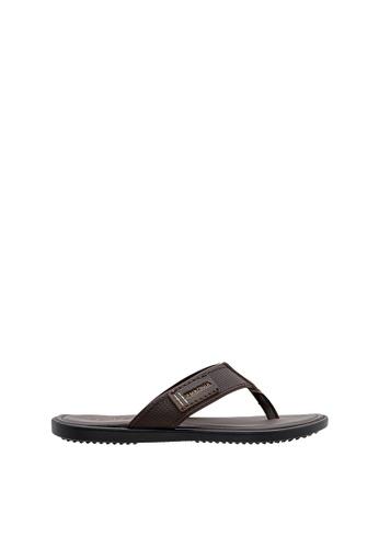 SEMBONIA brown SEMBONIA Men Synthetic Leather Sandal (Dark Brown) BFC75SH40BB379GS_1
