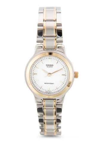 雙色不銹鋼圓esprit taiwan錶, 錶類, 飾品配件