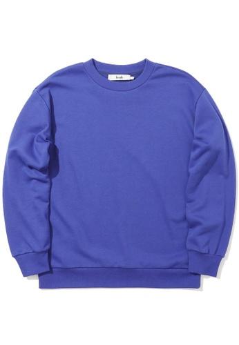 b+ab purple Graphic tape sweatshirt 31CA7AA0F406E2GS_1