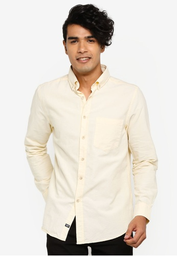 4c976062206 Long-Sleeve Regular-Fit Oxford Shirt With Chest Pocket