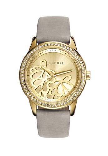 ESPRIT grey Esprit Jam Tangan Wanita - Gold Grey - Leather Strap -  ES108122002 ES347AC0V508ID 1 326be3afcf