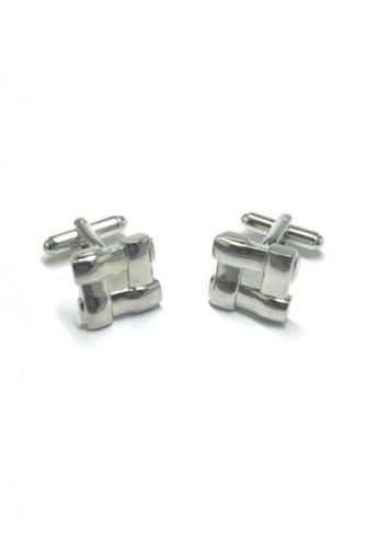Splice Cufflinks silver Silver Square Design Cufflinks   SP744AC10DNPSG_1