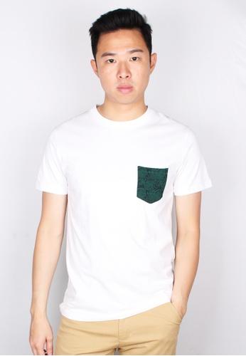 Moley white Tribal Print Pocket T-Shirt 02DDEAA9B09216GS_1