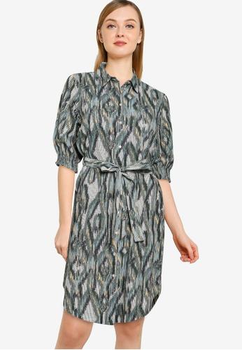 Vero Moda green Annabelle 2/4 Shirt Dress 5AC71AA37E16F7GS_1