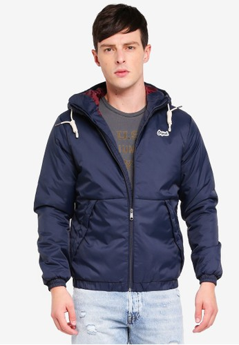 Jack & Jones blue and navy Jorriver Jacket 0B9C7AAFECBDB0GS_1