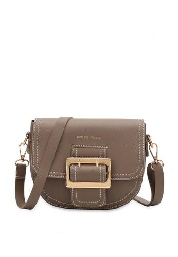 Swiss Polo brown Swiss Polo Ladies Sling Bag D8218AC448B9F7GS_1