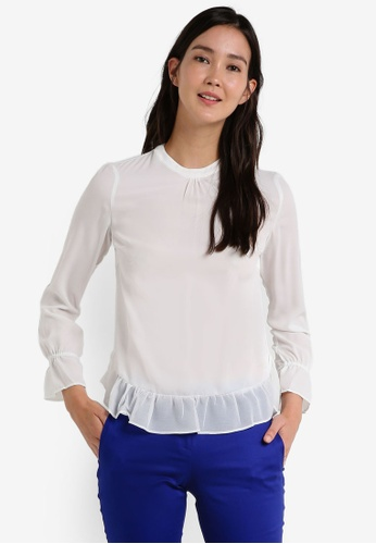 Dorothy Perkins white Ivory Gathered Neck Top DO816AA0RCGFMY_1