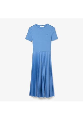 Lacoste blue Women's Mid-Length Textured Pleated Dress 21C27AA56D3783GS_1