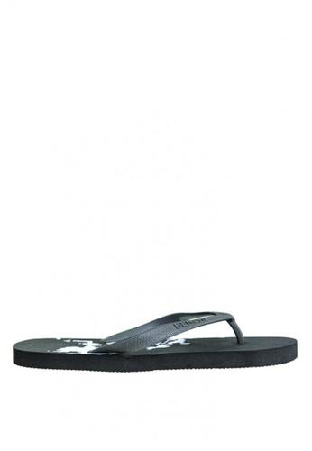 BENCH black Rubber Slippers   BE550SH0KE48PH_1