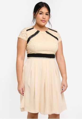 Little Mistress beige Plus Size Cream Prom Dress 4EF9DAAB1D4954GS_1