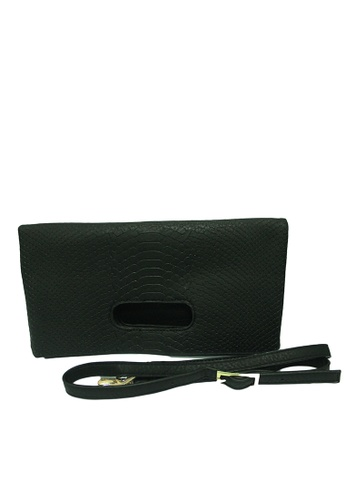 The Papillon Design black Grab foldover Clutch TH964AC29VLUMY_1