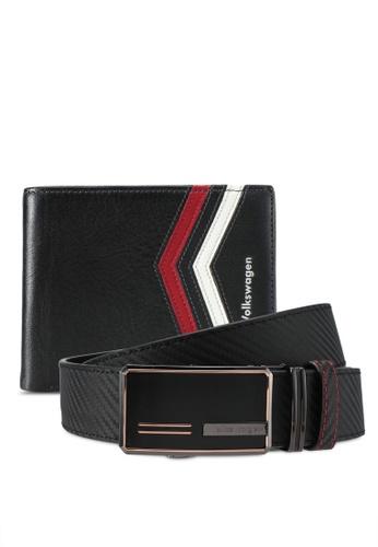 Volkswagen black Volkswagen Belt & Wallet Gift Set VO089AC0SM9ZMY_1