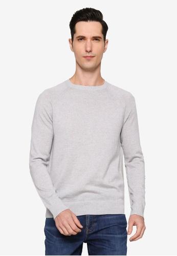 Banana Republic 灰色 Merino Raglan Crew Sweater FABD3AAD05B40CGS_1